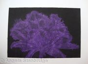 Cool Cystal Aquatint Etching Purple