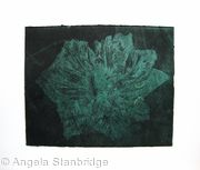 Caspin Dark Tulip Aquatint Etching Dk Green