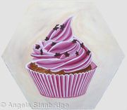 Cupcake 2 - ON HEXANGONAL CANVAS