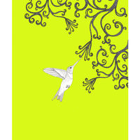 Hummingbird ( lime green) - madebysteph