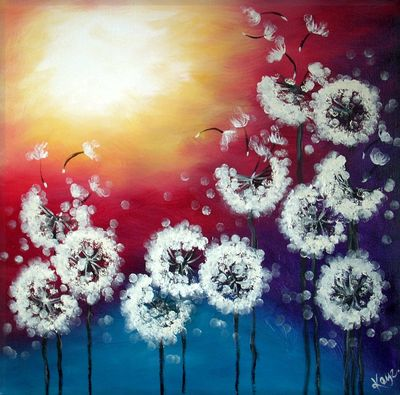 Dandelions Paint Oil