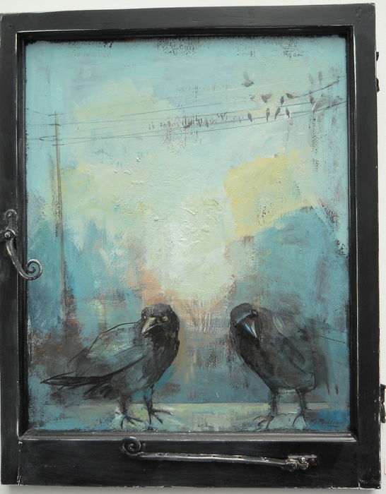 crows ( a view through the window )