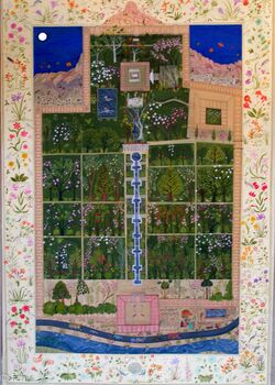 Garden of Babur in Kabul - the first Mughal Emperor