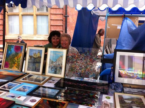 Mum and I at Contemporary Art Fair in Leamington Spa