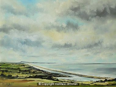 Chesil Beach from Abbotsbury Hill