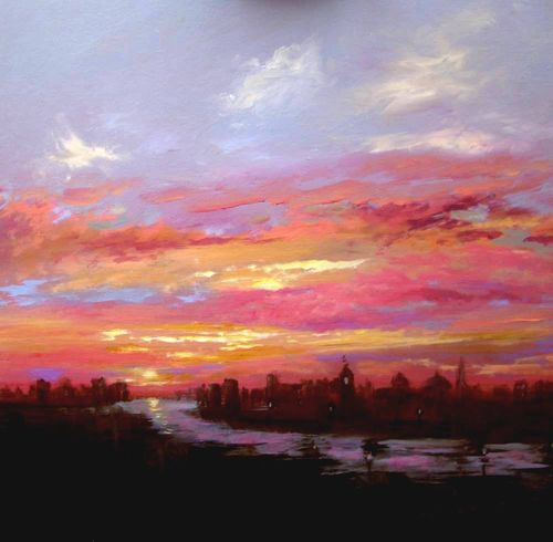 London Sunset Sky SOLD