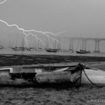 Coronado Bridge lightening strike