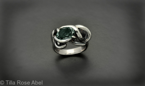 Prasiolite light green Thorn in my Pride ring