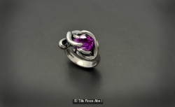Created Alexandrite and Sterling Silver Thorn in My Pride ring