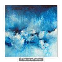 Strata18 Large Blue Abstract Painting