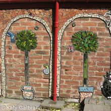 Wall Mosaic in Garden