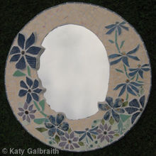 Mirror made with Lucy's ceramics