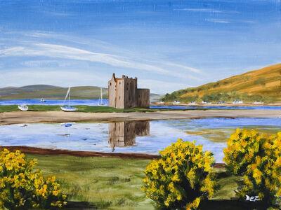 Lochranza Castle, Arran - Mounted print: www.eliseferguson.co.uk/sold-paintings/18039_lochranza-castle-arran...