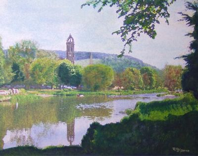 PEEBLES Old Parish Church - Riverside  Walk