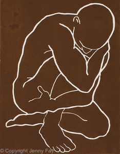 Male Nude Crouching