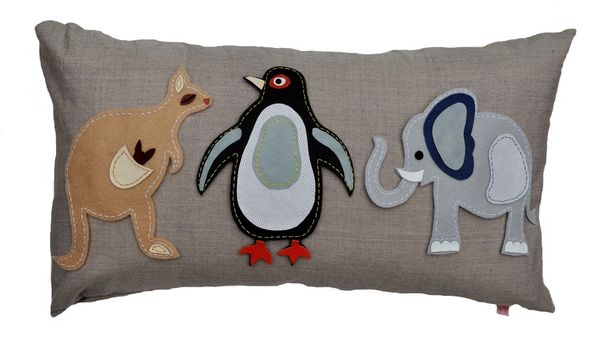 Animal Fair (Penguin) Cushion