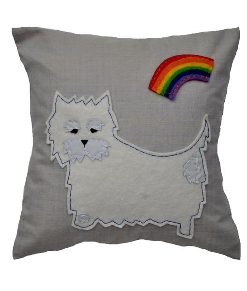 Westie Cushion, Small