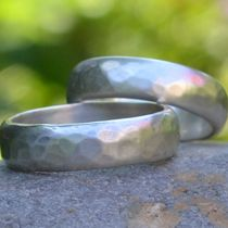 Handmade silver wedding rings