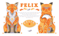 Felix the Fox tea-towel