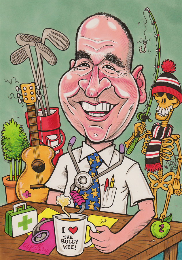 Doctor's Retirement Gift Caricature