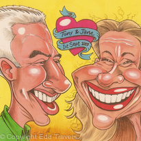 Tony and Jane : Gift Caricature