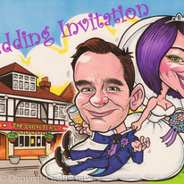 Wedding Invitation Caricature 2012
