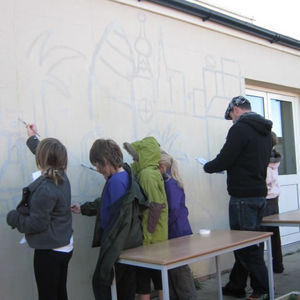 Shoreham Beach Mural painting