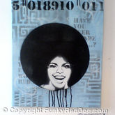 Funky Afro stencil