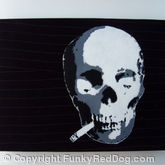 Smoking Skull Stencil