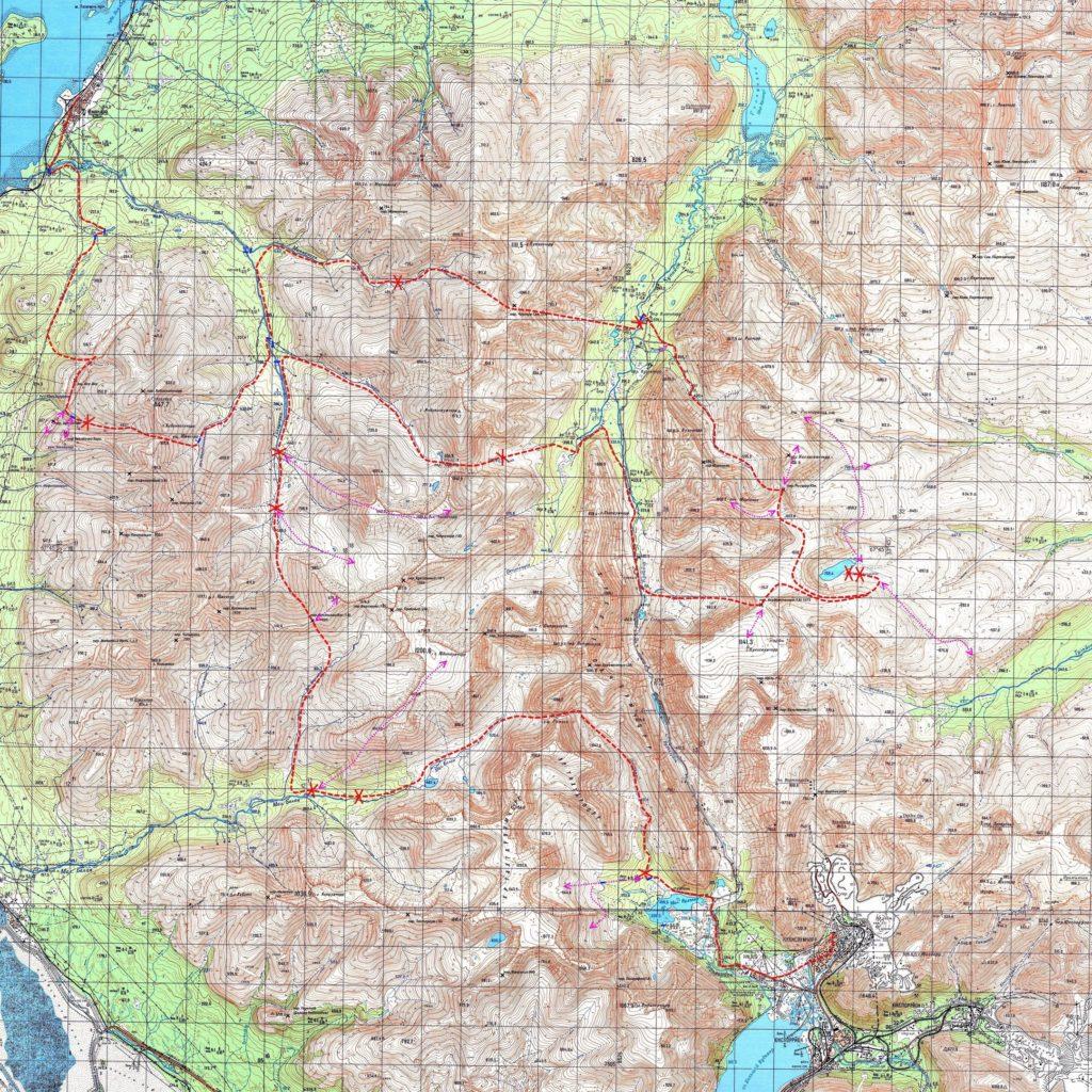 карта хибин