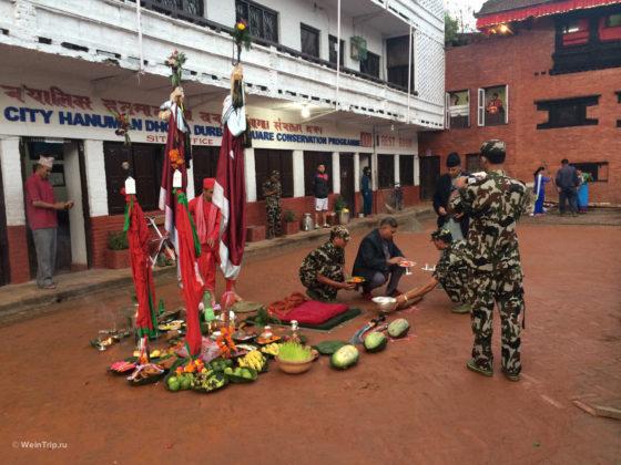 Дашайн жертвоприношения в Непале
