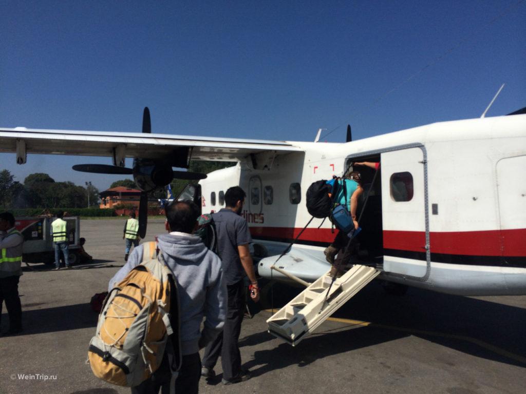 Самолет Катманду - Лукла
