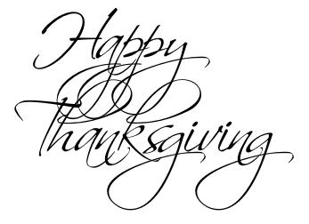 Stylized Thanksgiving Writing