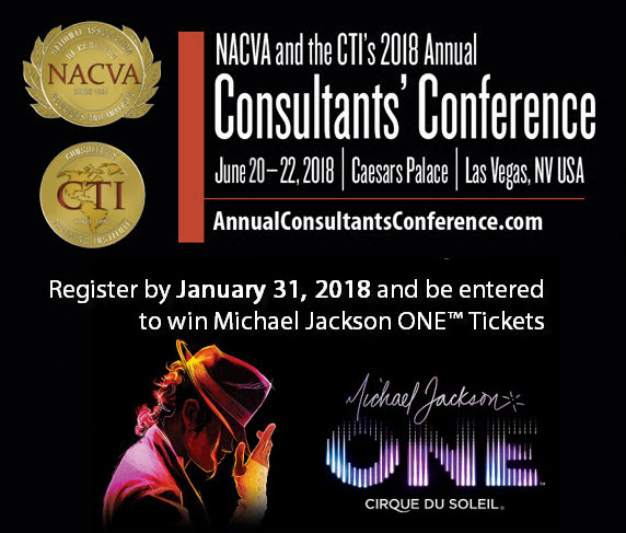 2018 Annual Consultants' Conference | Register by January 31 and be entered to win Michael Jackson ONE Tickets
