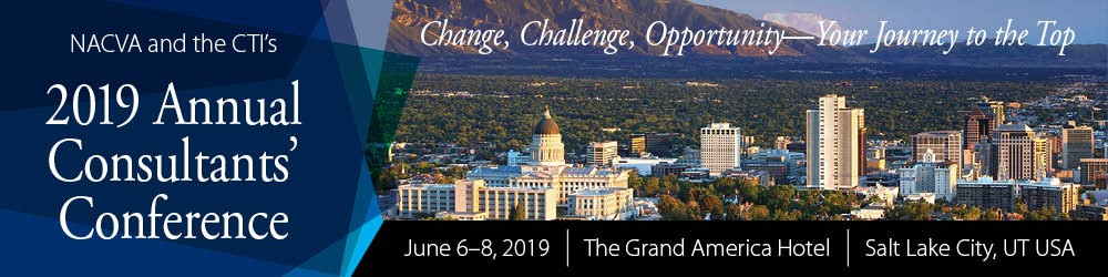 2019 Annual Consultants' Conference: June 6-8, 2019