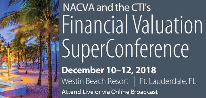 NACVA and the CTI's Financial Valuation SuperConference - The best year-end CPE event!