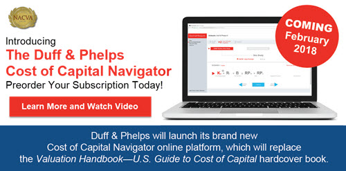 Introducing the Duff & Phelps Cost of Capital Navigator