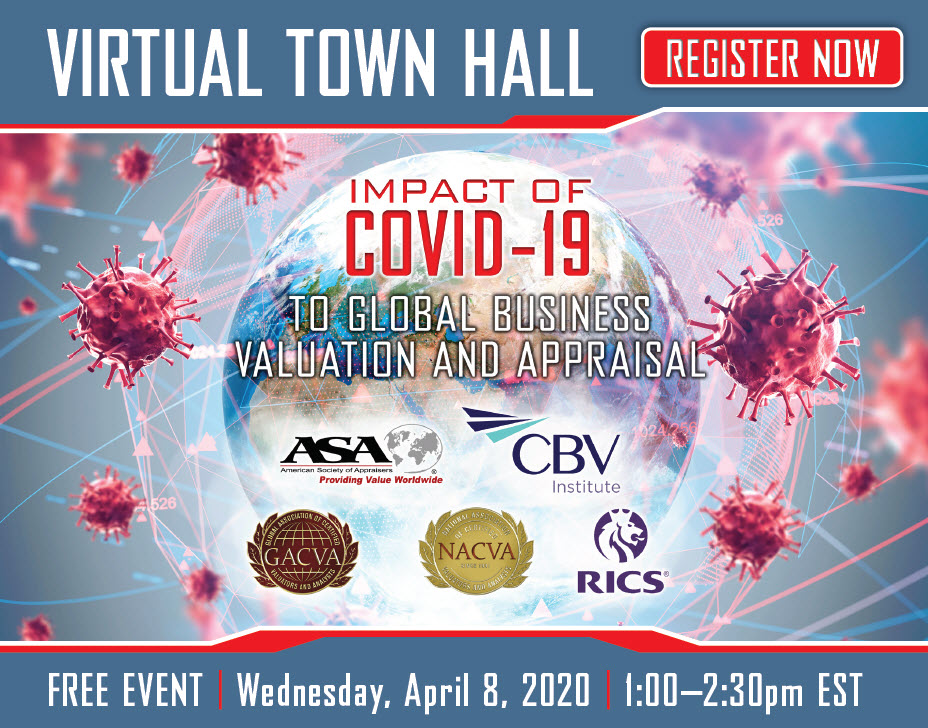 Virtual Town Hall | Impact of COVID-19 to Global Business Valuation and Appraisal