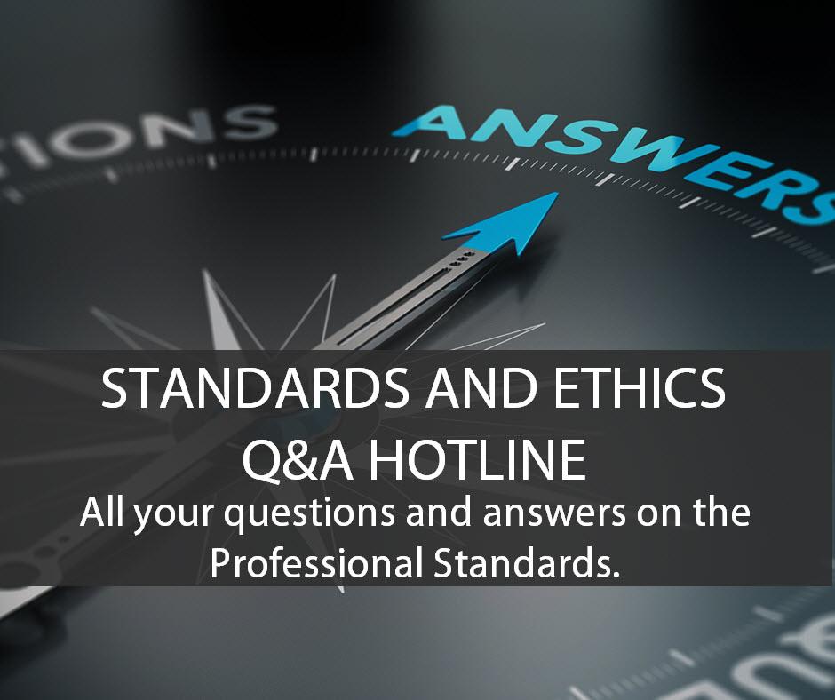 Standards Q&A Forum