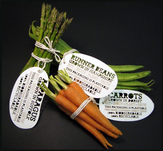Plantable Vegetable Packaging