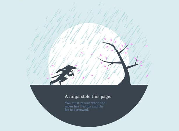 Cool error 404 page design