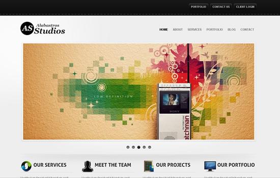 Alabastros Studios WordPress Version