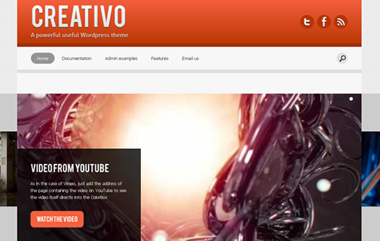 Creativo: Infinitely Customizable WordPress Theme