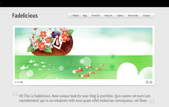 Fadelicious - WordPress Blog & Portfolio Template
