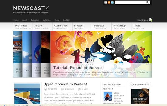 Newscast 4 in 1 - WordPress Magazine and Blog