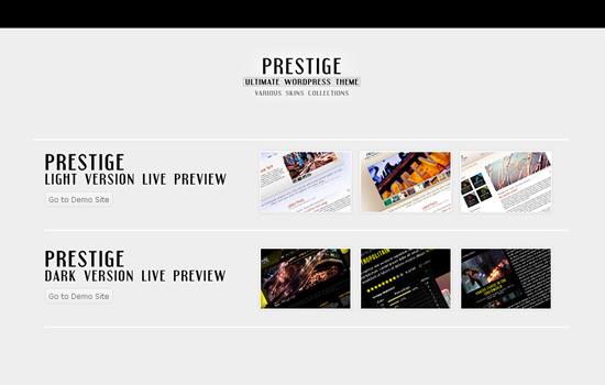 Prestige – Ultimate WordPress Theme