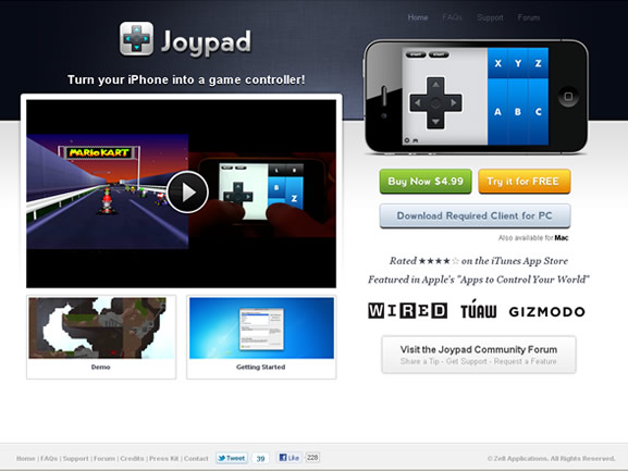 Joypad iPhone App