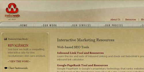 Neboweb Web-based SEO Tools