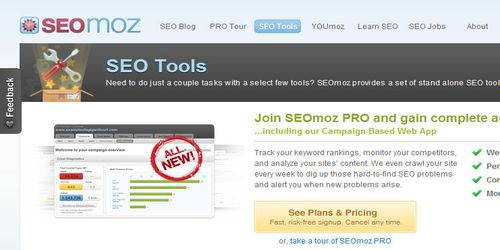 Seomoz SEO Tools