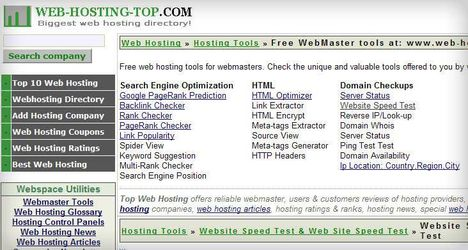 Web-hosting-top tools